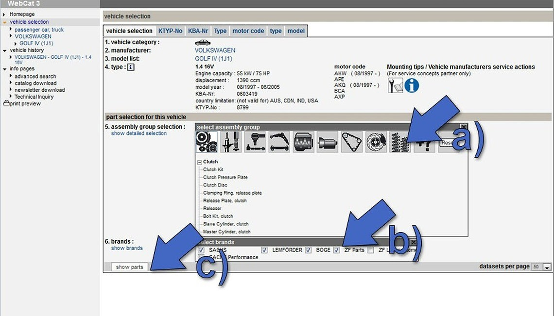 Catálogos en línea ZF Part Finder y WebCat - SACHS on jeep 3.6 engine, audi 3.6 engine, saturn 3.6 engine,