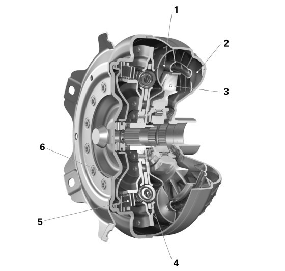 Technical illustration of torque converter