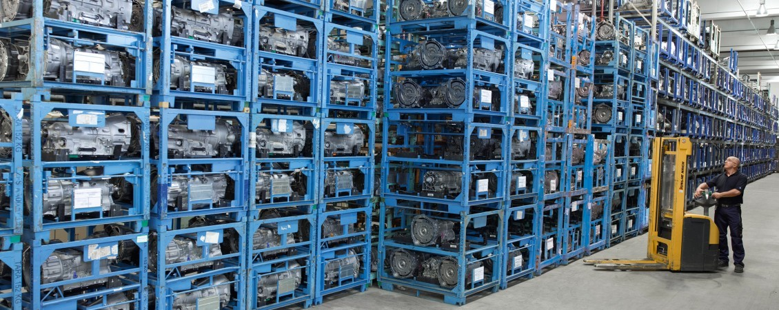 Warehouse for used parts